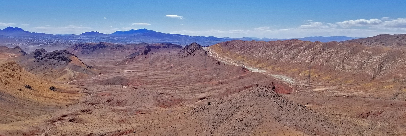 View South from Midway Down the SW Traverse Route | Lava Butte | Lake Mead National Recreation Area, Nevada