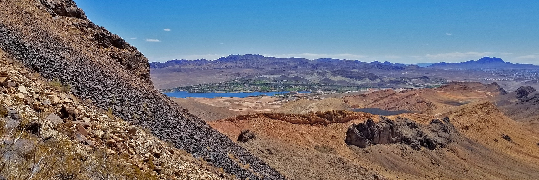 Upper View of the SW Traverse Route. Curiously, Boulders are Relatively Secure. | Lava Butte | Lake Mead National Recreation Area, Nevada