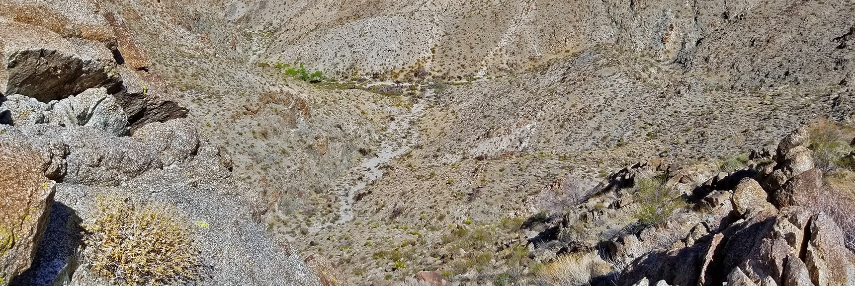 Aerial View of Horse Thief Canyon Springs and Canyon Intersection | Mt. Wilson | Lake Mead National Recreation Area, Arizona