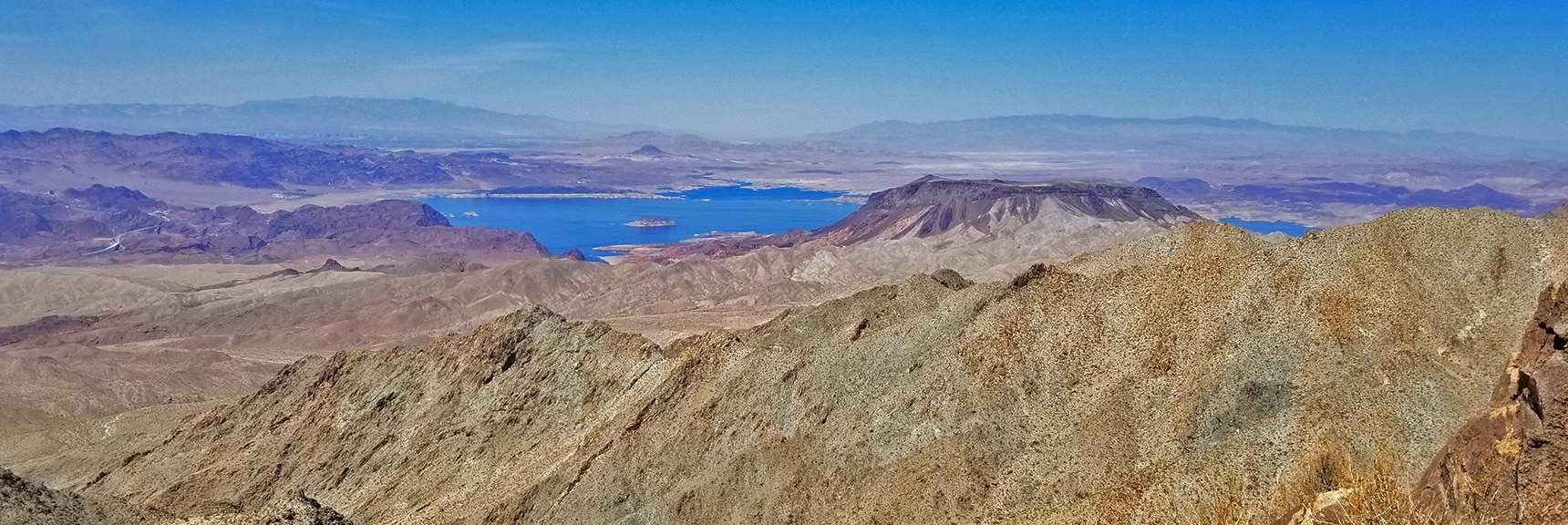 Lake Mead and Fortification Hill from Mt. Wilson Western Approach Ridge Pre-Summit Bluff | Mt. Wilson | Lake Mead National Recreation Area, Arizona