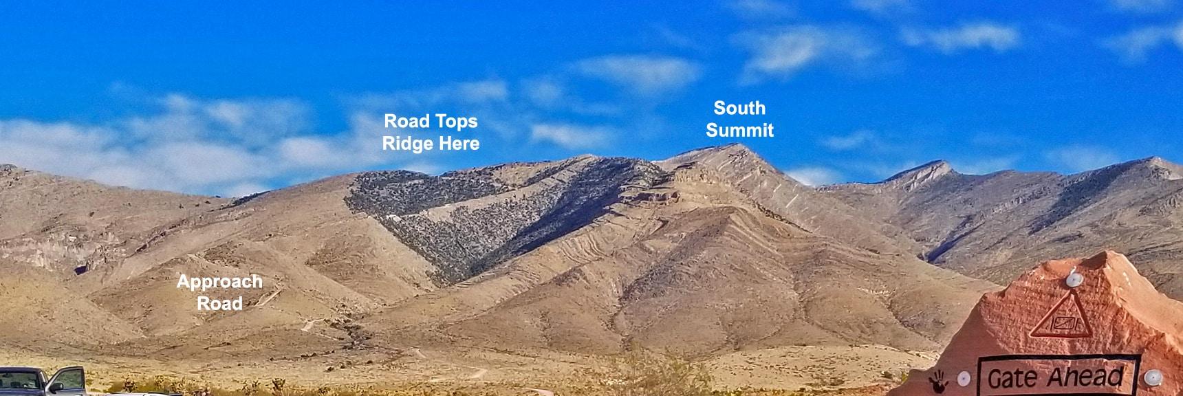 Potosi Mountain Road Ascending the Ridge. South Summit In View | Potosi Mountain Spring Mountains Nevada