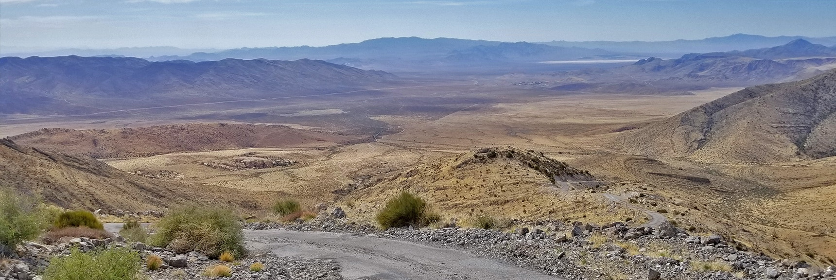 Rapid Ascent Reveals Expanding Panorama of Valley and Mountains Below | Potosi Mountain Spring Mountains Nevada