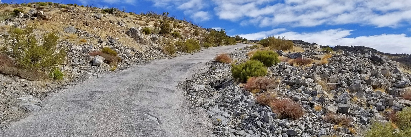 Most Steep Incline Stretches on Potosi Mountain Road are Paved | Potosi Mountain Spring Mountains Nevada