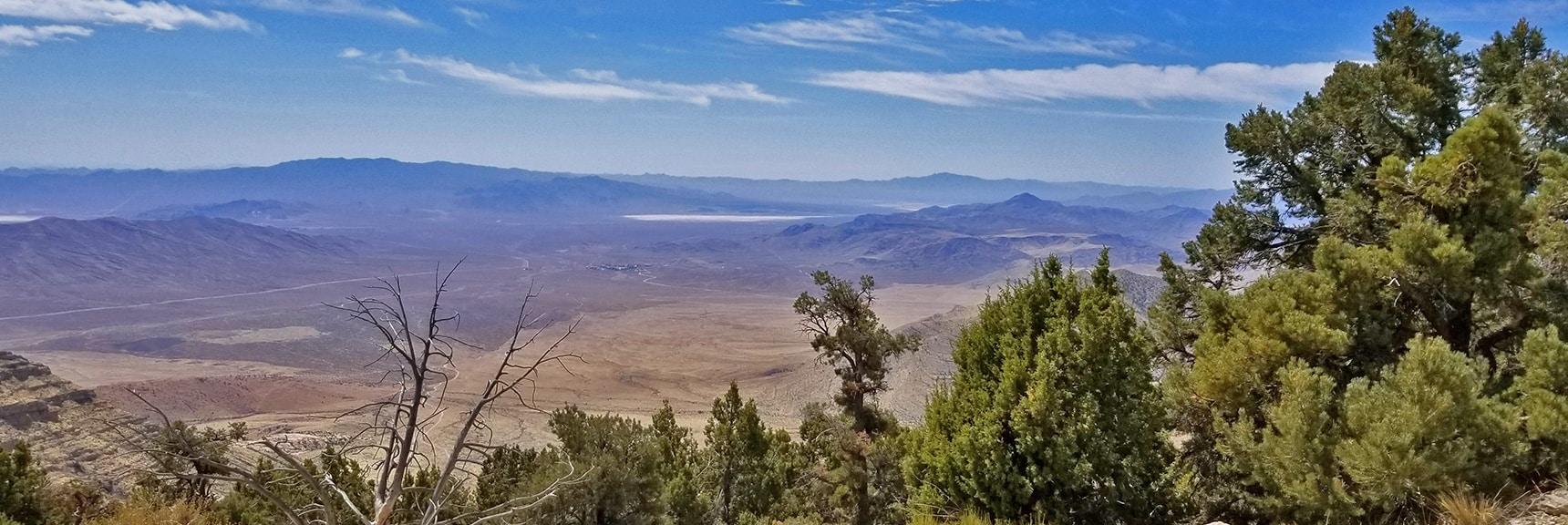 Panorama View Back Down the Upper Ridge | Potosi Mountain Spring Mountains Nevada
