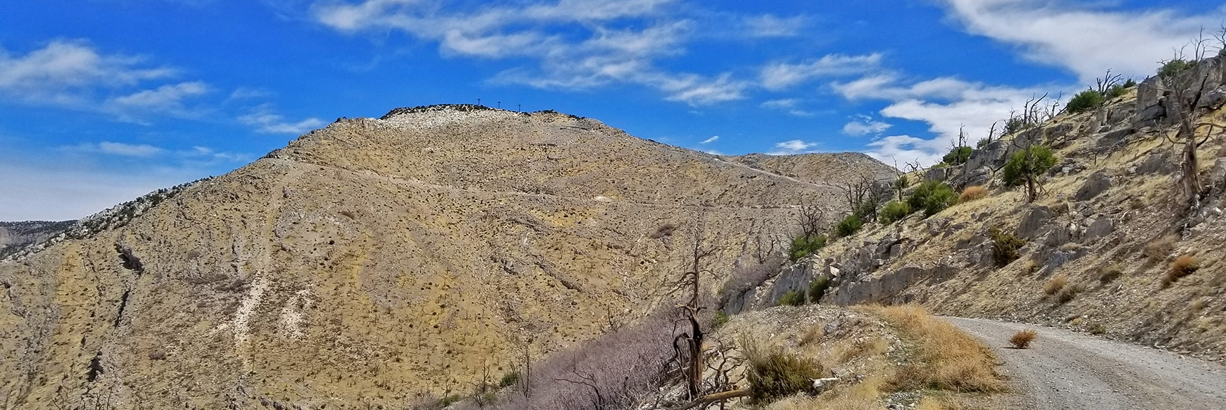 Rounding the Ridge the South Summit Comes into View | Potosi Mountain Spring Mountains Nevada