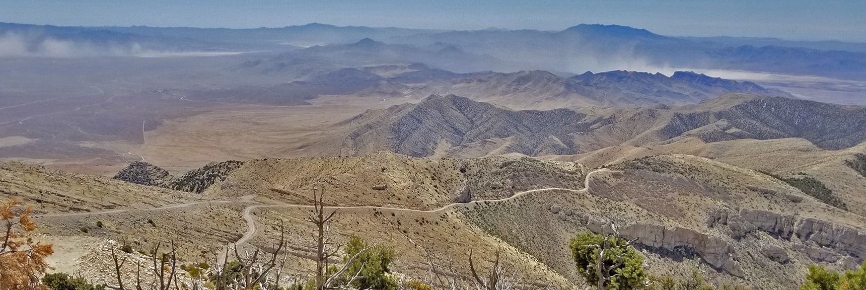 South Summit Approach Road Looking Back to the Place I Topped the Initial Ridge | Potosi Mountain Spring Mountains Nevada