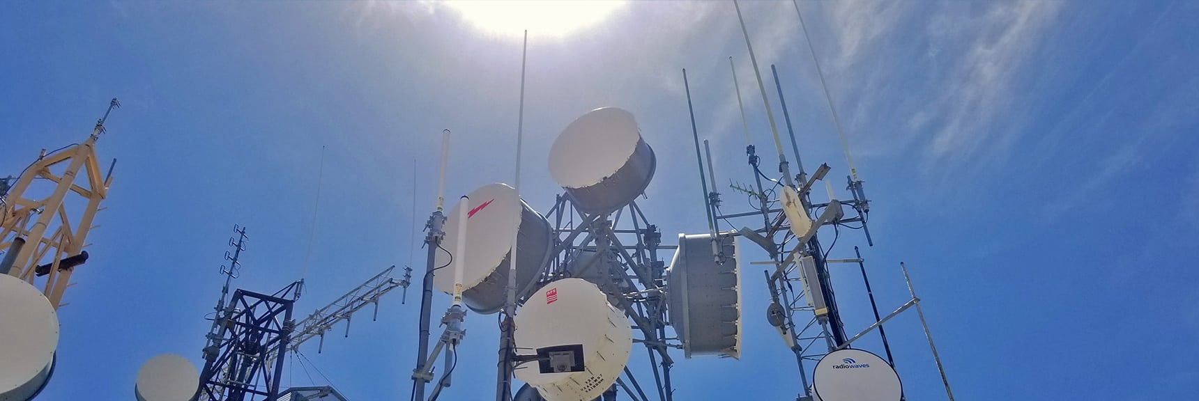 Mid Summit Communication Towers. Wind So Strong it Sounded Like a Jet Engine. | Potosi Mountain Spring Mountains Nevada