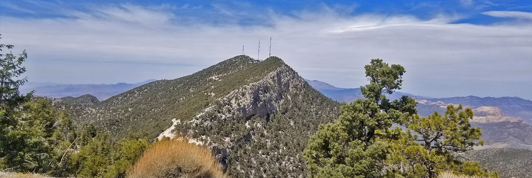 North Summit Viewed from the Mid-Summit. | Potosi Mountain Spring Mountains Nevada