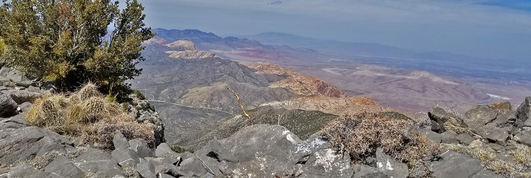 Red Rock Park and La Madre Mountains Wilderness Viewed from the North Summit. | Potosi Mountain Spring Mountains Nevada