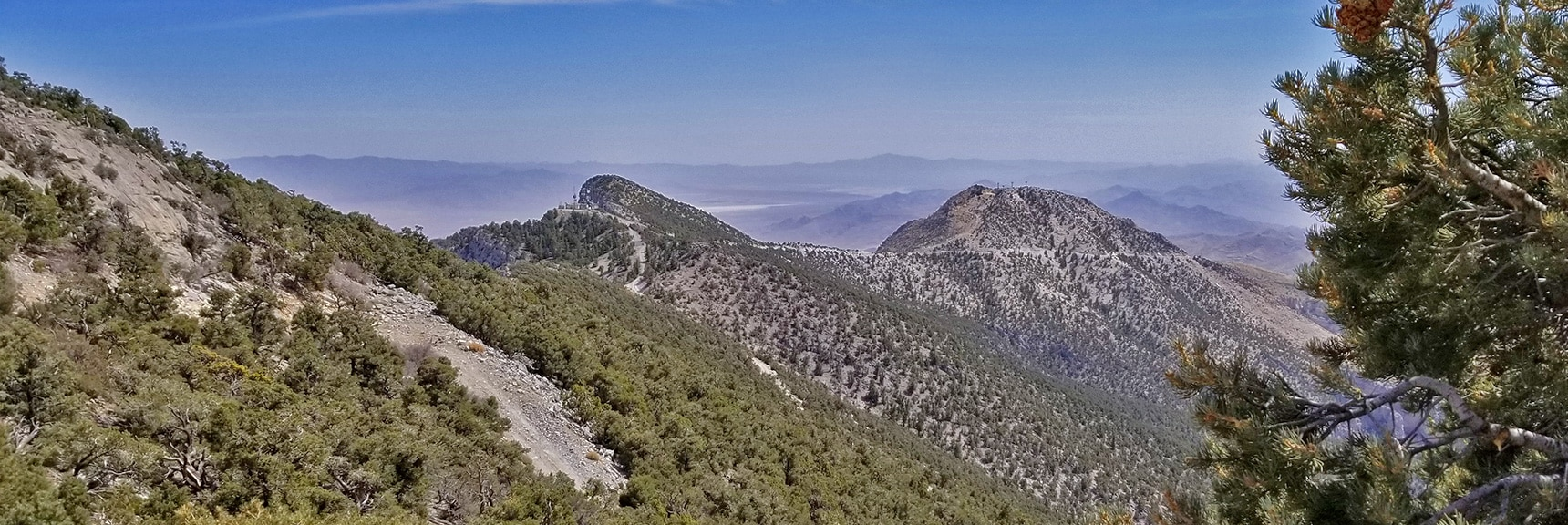 Mid Summit and South Summit Viewed from the North Summit. | Potosi Mountain Spring Mountains Nevada