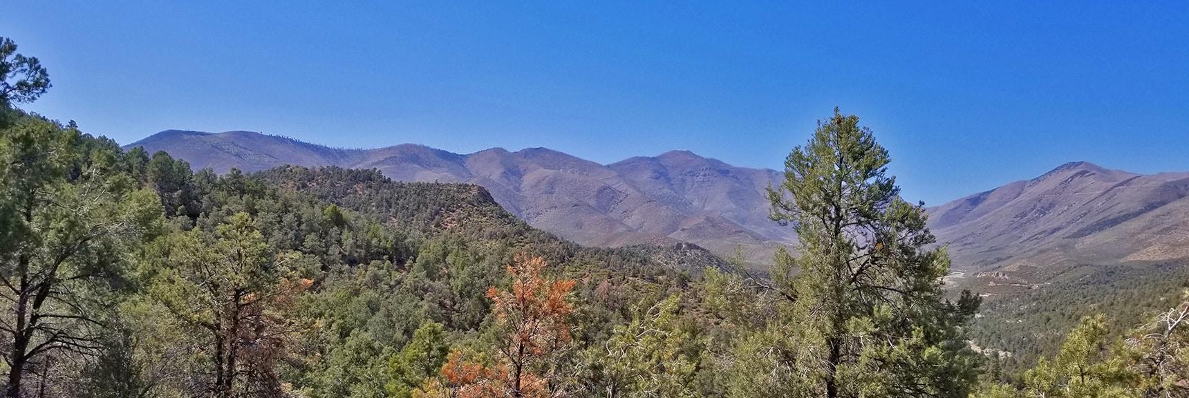 Sexton Ridgeline Leading to Griffith Peak | Griffith Peak Southern Approach from Sexton Ridge Above Lovell Canyon, Nevada