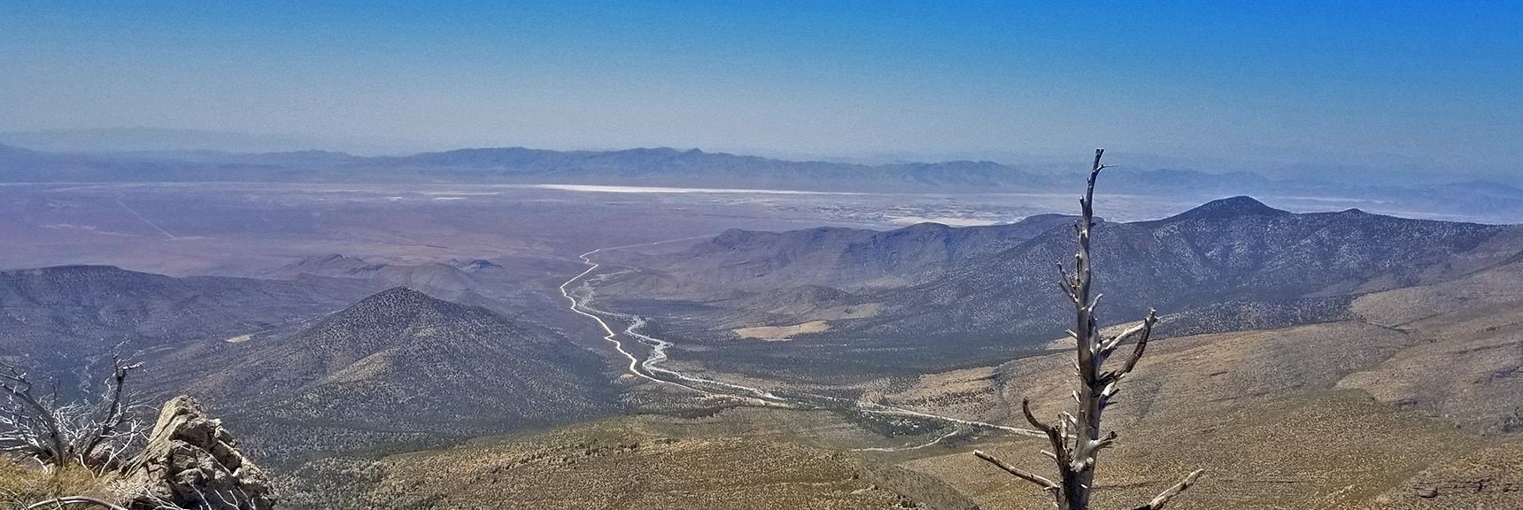 Trout Canyon, Pahrump and Funeral Mountains Viewed from 9,000ft on Sexton Ridge | Griffith Peak Southern Approach from Sexton Ridge Above Lovell Canyon, Nevada