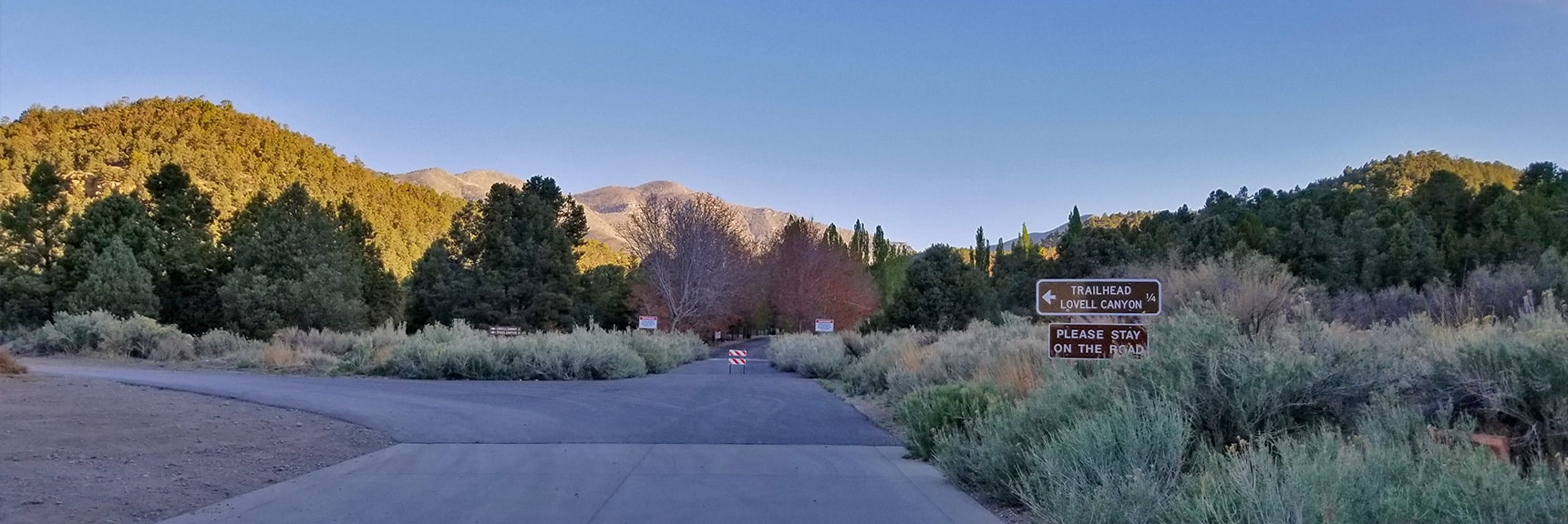 Parking Area at End of Lovell Canyon Rd. Trailhead 1/4th Mile. | Harris Mountain from Lovell Canyon Nevada