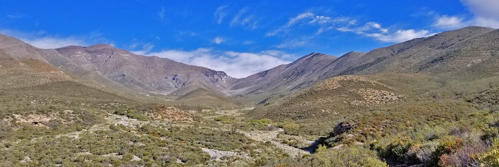 Lovell Canyon, Griffith Peak, Harris Mt. and Saddle from East Side of Canyon. | Harris Mountain from Lovell Canyon Nevada