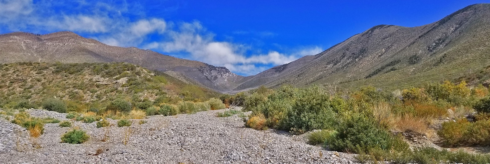 Split to the Right of the Ridge in the Middle of Lovell Canyon | Harris Mountain from Lovell Canyon Nevada