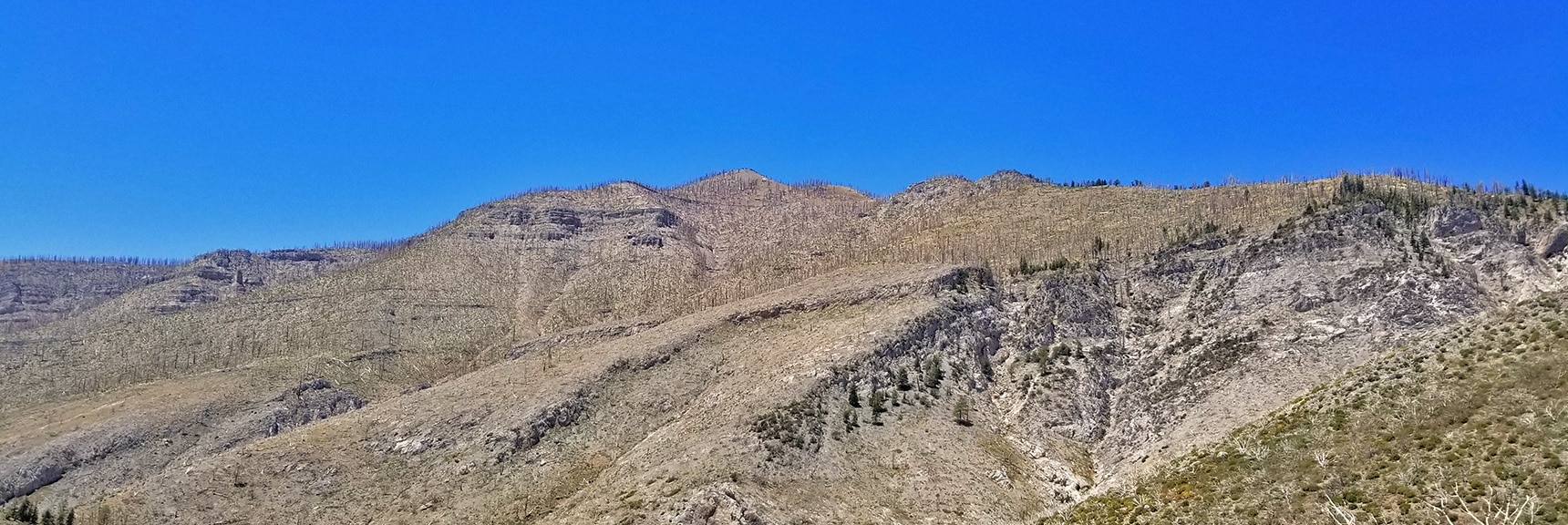 Harris/Griffith Ridge and Sexton Ridge Viewed from 8,300ft East Side of Lovell Canyon | Harris Mountain from Lovell Canyon Nevada