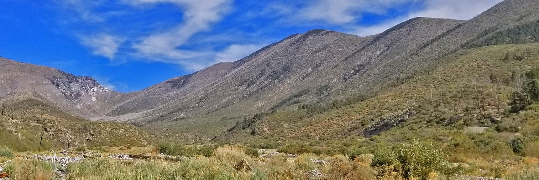 Potential Approach Ridges to Harris Mountain Summit | Harris Mountain from Lovell Canyon Nevada