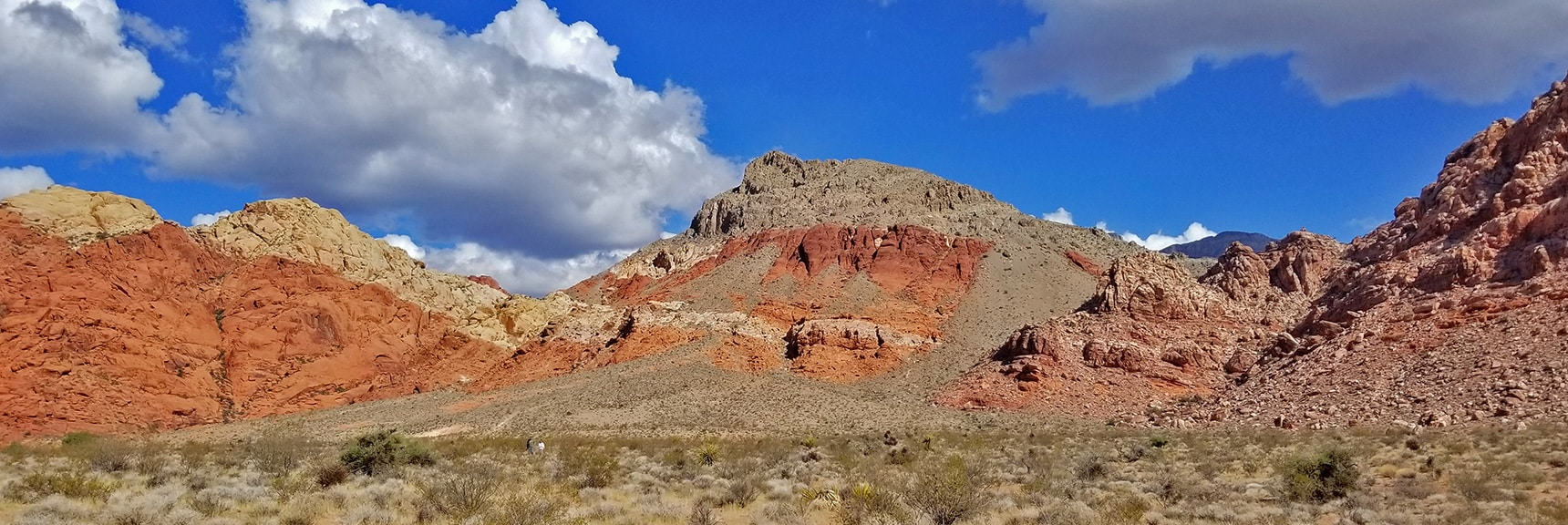View Toward Hell Hill Trail and Pink Goblin Pass | Kraft Mountain Loop | Calico Basin, Nevada