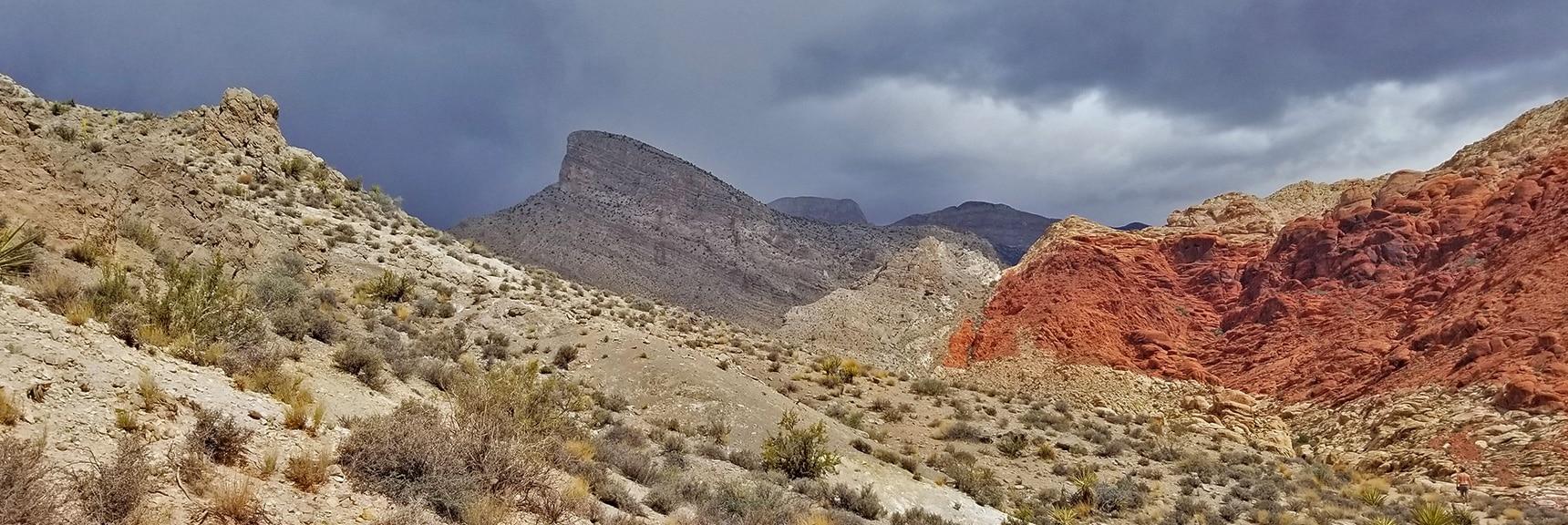 Turtlehead Peak from Pink Goblin Pass | Kraft Mountain Loop | Calico Basin, Nevada