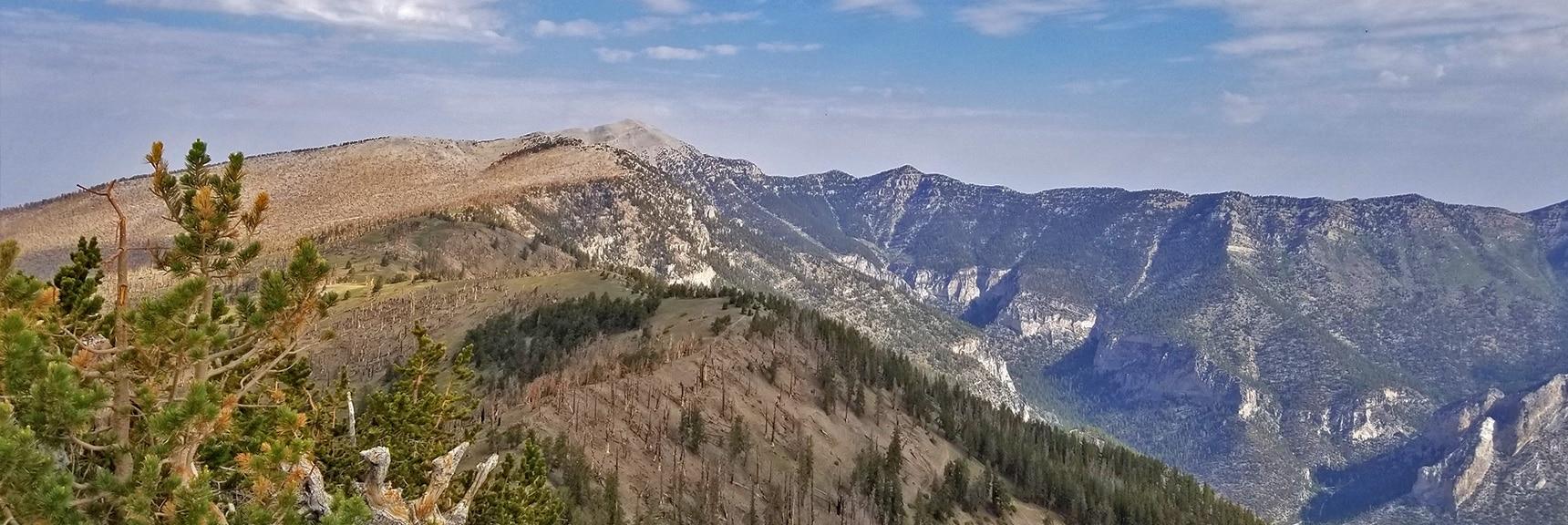 Charleston, Lee Peak and the Upper Loop Viewed from Griffith Peak Summit | Sexton Ridge Descent from Griffith Peak, Mt. Charleston Wilderness, Spring Mountains, Nevada
