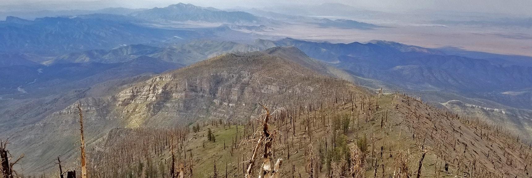 View Down Sexton Ridge All the Way to Potosi Mountain | Sexton Ridge Descent from Griffith Peak, Mt. Charleston Wilderness, Spring Mountains, Nevada