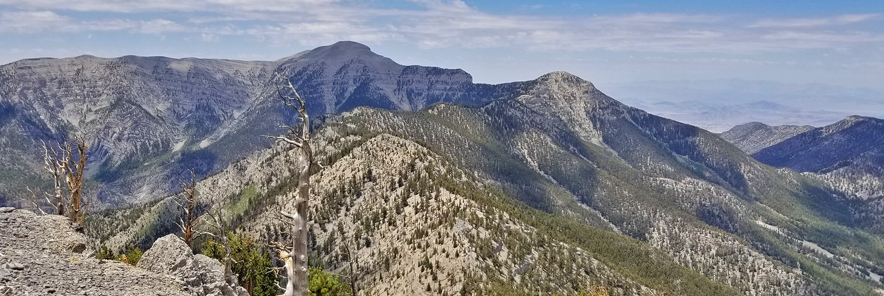 The North Ridge of Kyle Canyon is an Upper Approach to Lee Peak and Charleston Peak | Mummy Mountain NW Cliffs | Mt Charleston Wilderness | Spring Mountains, Nevada
