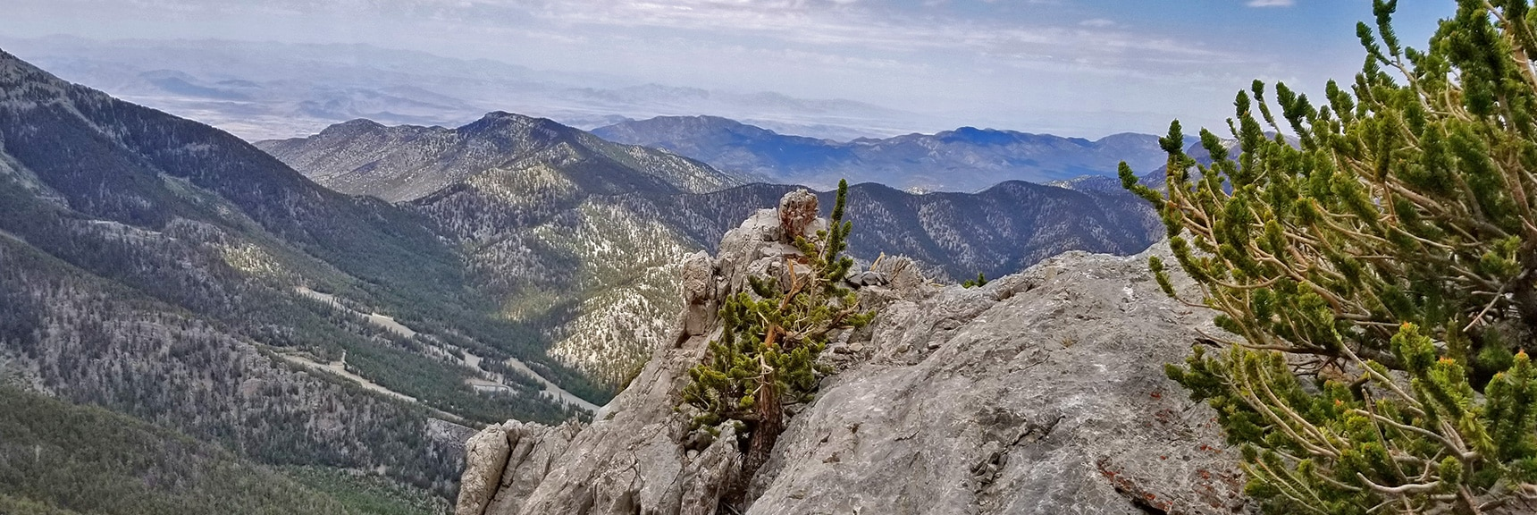 View Toward Pahrump Valley and Telescope Peak from Mummy's NW Cliffs | Mummy Mountain NW Cliffs | Mt Charleston Wilderness | Spring Mountains, Nevada