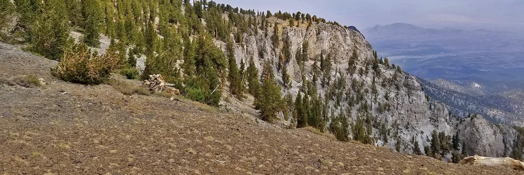 Approaching the NE Cliff and Descent Chute | Mummy Mountain NE Cliffs Descent | Mt Charleston Wilderness | Spring Mountains, Nevada