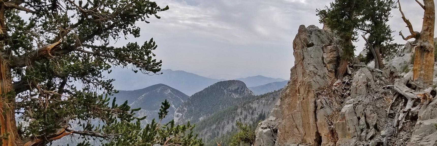 Fletcher Peak and Mummy's Toe from the NE Cliff Descent Chute | Mummy Mountain NE Cliffs Descent | Mt Charleston Wilderness | Spring Mountains, Nevada