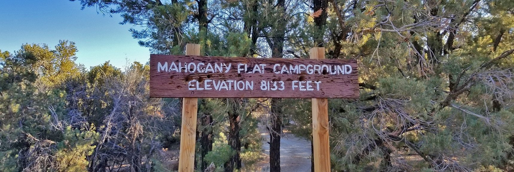 Arrival at Mahogany Flat Campground, 8133ft Elevation   Telescope Peak Summit from Wildrose Charcoal Kilns Parking Area, Panamint Mountains, Death Valley National Park, California
