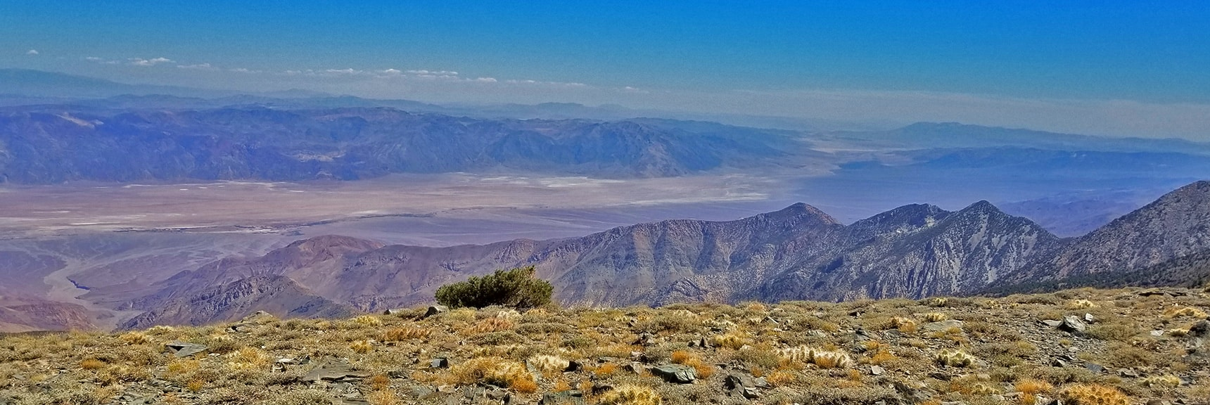 Southern Death Valley Stretches Out Below Bennett Peak Summit   Telescope Peak Summit from Wildrose Charcoal Kilns Parking Area, Panamint Mountains, Death Valley National Park, California