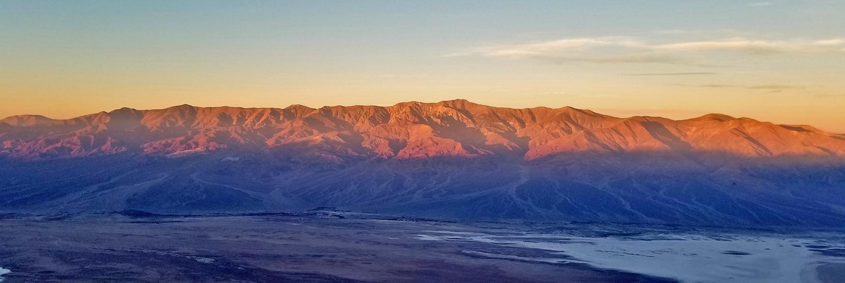 Telescope Peak Sunrise from Dante's View   Death Valley National Park, California