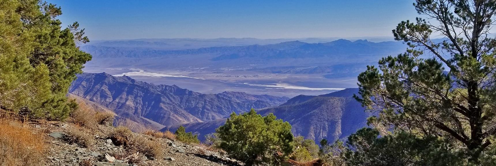 Death Valley, Furnace Creek Area, Viewed from Wildrose Peak Final Summit Approach   Wildrose Peak   Panamint Mountain Range   Death Valley National Park, California