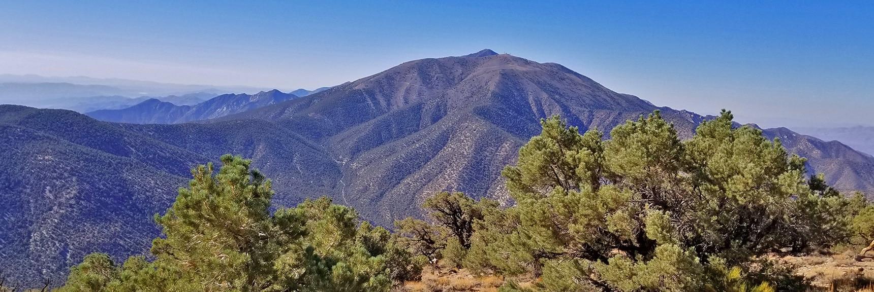 Telescope Peak, Bennett Peak and Rogers Peak from Near Wildrose Peak Summit   Wildrose Peak   Panamint Mountain Range   Death Valley National Park, California