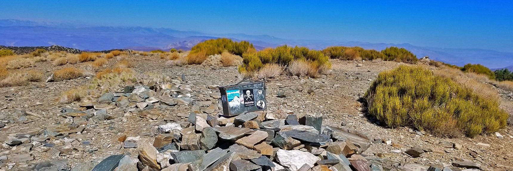 Arrival on Wildrose Peak Summit   Wildrose Peak   Panamint Mountain Range   Death Valley National Park, California