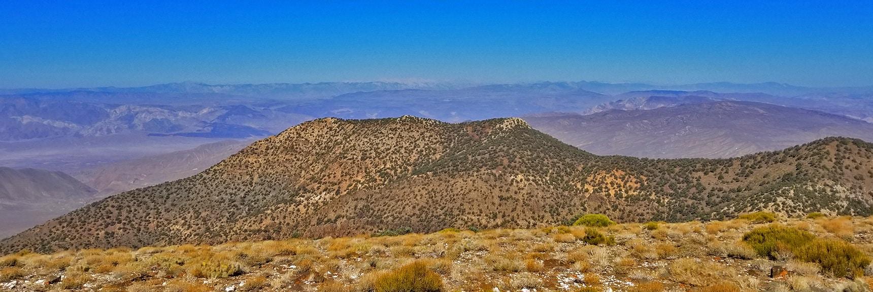 View West Toward Sierra Nevada Mountain Range from Wildrose Peak Summit   Wildrose Peak   Panamint Mountain Range   Death Valley National Park, California