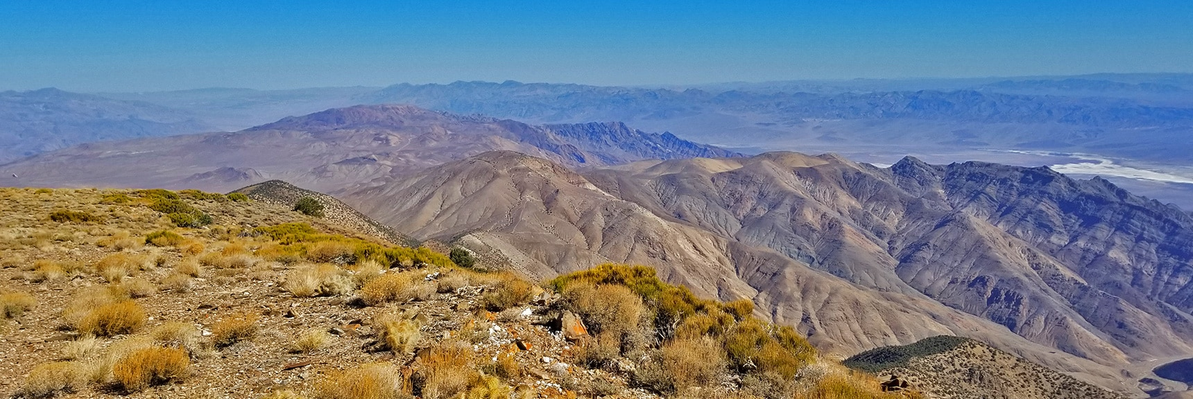View North Toward Aguereberry Point and Northern Death Valley from Wildrose Peak Summit   Wildrose Peak   Panamint Mountain Range   Death Valley National Park, California